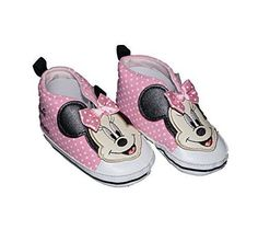 Disney Minnie Mouse Pink Hi-Top Sneaker Baby Girls Shoes