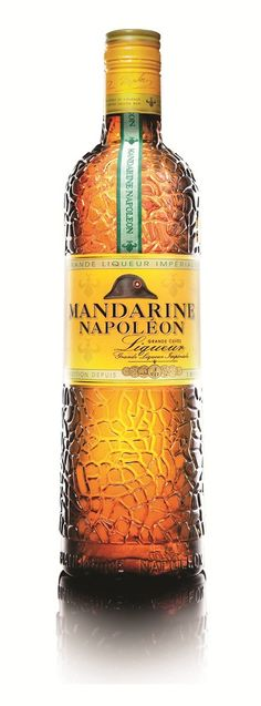Mandarine Napoleon: orange liqueur and aged cognac made especially for Napoleon Bonaparte
