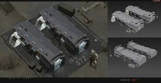 Various building concepts for yet another canceled project that we have worked on here at redsteam. (c) 2013 Redsteam - Gameloft [MENatARMS] redsteam CA Barrack Base Building, Building Concept, Building Structure, Sci Fi Spaceships, Future Buildings, Real Time Strategy, Safe Room, Modeling Techniques, Environment Design