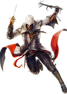 Early concept for Connor in Assassin's Creed 3.