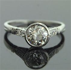 1920's Old European cut diamond ring