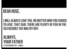 Ron, there is no denying Rose and Scorpius's love.
