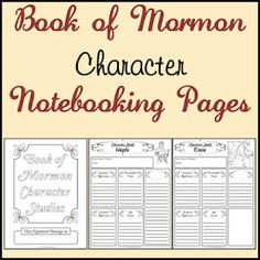 LDS Notebooking: Free New Testament Character Study Notebooking Pages. There is one for Old Testament and book of Mormon too Family Scripture, Scripture Reading, Scripture Study, Scripture Journal, Kids Bible, Bible Character Study, Lds Seminary, Lds Books, Quotes Arabic