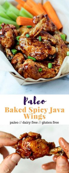 These paleo baked wings combine the perfect balance of sweet &spicy witha little kick from cold brew coffee. Made from good for you ingredients, they are paleo, gluten free, & dairy free - Eat the Gains