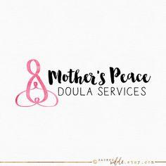 Pink Spiral Logo Design , Doula Logo , Midwife Logo , Birth worker Logo , Celtic…
