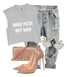 """""""Untitled #3711"""" by xirix ❤ liked on Polyvore featuring OneTeaspoon, Chanel, Christian Louboutin and Jean-Paul Gaultier"""