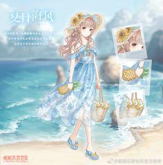 #DressupGame #暖暖环游世界 #NikkiUp2u2WorldTraveler #จีน2 #Orangecatty #FBNikkiเซิฟจีน ((All Versions)) Anime Girl Cute, Beautiful Anime Girl, Oc Manga, Beach Party Outfits, Nikki Beach, Nikki Love, Clothing Sketches, Girls With Flowers, Anime Dress