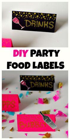 DIY Party Food Label