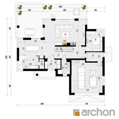 Willa Weronika 3 (P) - Dehily House Layout Plans, Small House Plans, House Layouts, Three Bedroom House Plan, Luxury House Plans, Building A New Home, Plan Design, Modern House Design, Traditional House