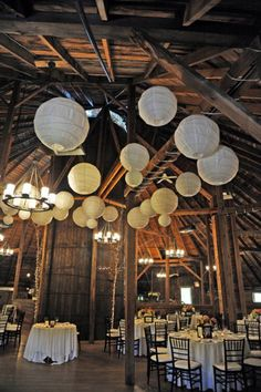 How To Light A Barn Wedding - Rustic Wedding Chic