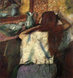 Edgar Degas「Woman at her Toilette」