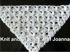 How to crochet spring triangle baktus wrap shawl free pattern tutorial by Puff Stitch Crochet, Crochet Shawl Free, Crochet Puff Flower, Crochet Flower Patterns, Crochet Scarves, Crochet Stitches, Crochet Flowers, Knitting Patterns, Knit Crochet