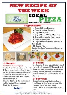 ideal protein pizza