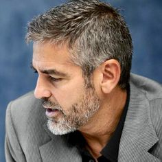 42 Hairstyles for Men with Silver and Grey Hair - Men Hairstyles World - Mens hairstyles short - Silver Hair Men, Grey Hair Men, Gray Hair, Blue Hair, Older Mens Hairstyles, Trendy Mens Haircuts, Hair And Beard Styles, Short Hair Styles, Facial Hair Styles