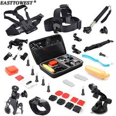 ==> [Free Shipping] Buy Best Easttowest For Gopro Accessories kit GoPro Float Bobber Suction Cup Mount Gopro Bag for Xiaomi Yi Camera Gopro Hero 4 3 SJCAM Online with LOWEST Price   32370082404