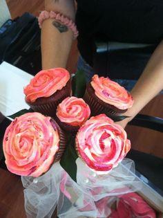 Cupcake Rose arrangement