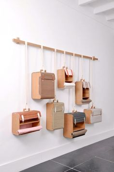 Hanging is a great way to display product. Hang crates, suitcases, etc to get the most out of the space yet making the visual clean and inviting If we talk about DIY projects, nothing much better than creating DIY wall shelves hanging storage to fulfill Diy Hanging Shelves, Diy Wall Shelves, Hanging Storage, Diy Storage Wall, Storage Shelving, Box Shelves, Hanging Bar, Garage Storage, Storage Cabinets