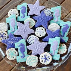 "488 Likes, 14 Comments - April (@prellycookies) on Instagram: ""Seahorse cookie platter to go with the seahorse cookie favors Thanks again for your order,…"""