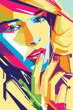 Geometric beauty portraits andy warhol, art plastique, pop art portraits, f Arte Pop, Abstract Portrait, Portrait Art, Art And Illustration, Portraits Pop Art, Fashion Portraits, Cubism Art, Art Watercolor, Famous Art