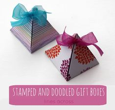 Stamped and Doodled Gift Boxes