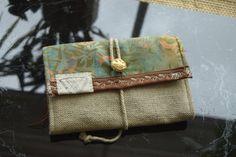 THE TRIP INDO17M94• VEGAN• Portemonnaie/ wallet with hemp / travel wallet / woman wallet / phone wallet /made in Berlin von YATORA auf Etsy