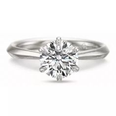 Ladies White Gold Solitaire Engagement Ring