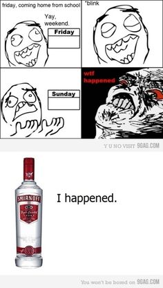Smir my old friend! Rage Faces, Smirnoff, Just For Laughs, Best Funny Pictures, Laugh Out Loud, Vodka Bottle, Haha, Funny Quotes, Alcohol
