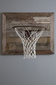"Rustic basketball goal - how cool!  As seen on HGTV's ""Fixer Upper."""