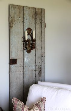 antique door from City Farmhouse Franklin, TN --- LLH DESIGNS | BRAVEHEARTED BEAUTY: One of My Favorite Spots {The Wine Room}