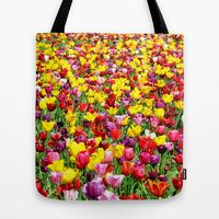 Tote Bag featuring SEA OF TULIPS by Teresa Chipperfield Studios