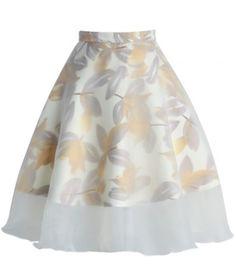 lovely organza a-line skirt