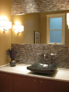 Full wall tile - nice and I love the sink.