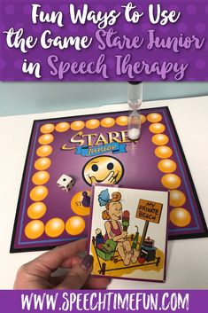 Do you implement games in your speech therapy lessons? Stare Junior is a great game to use with older students to help teach inference, the difference between relevant and irrelevant details, articulation and more. I have included example questions and tips on how to modify the game to your classroom and student needs! Click through to my blog to read more and start using Stare Junior and other games to increase engagement and decrease your need for classroom management techniques for speech the