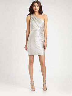 ABS Asymmetrical Metallic Dress