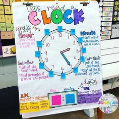 Have you seen Amy Johnson anchor charts? She's a second grade teacher with … Have you seen Amy Johnson anchor charts? She's a second grade [. Second Grade Teacher, Third Grade Math, First Grade Classroom, Math Classroom, Future Classroom, Grade 2, Second Grade Centers, Classroom Ideas, Classroom Clock
