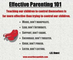 Good reminders to implement with the kids you love!