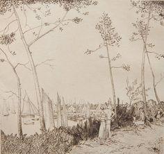 Jean-Emile Laboureur (1877-1943) - La Promenade sur la Port, 1933
