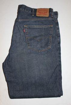 87b907b2489aa Levis 550 Mens Jeans 40 X 32 Relaxed Fit Blue EUC  Levis   ClassicStraightLeg Levis
