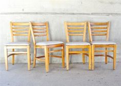 Apartment 528 | Vintage Buckstaff Library Chairs, Set of 4