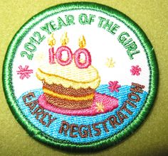 Girl Scouts 100th Anniversary 2012 Year of the Girl Early Registration patch.