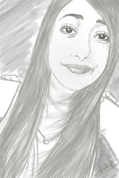 sketch of a facebook friend.. :) she'z pretty :)