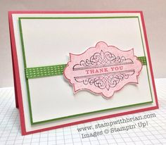 Everything Eleanor, Morning Meadow, Stampin' Up!, Brian King   Gumball Green and Primrose Petals cardstock