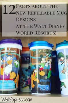12 Facts About the New Refillable Mug Design at Disney World! #DisneyDining #DisneyWorld