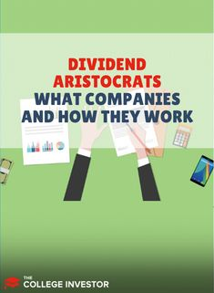 The dividend aristocrats are stocks that not only pay consistent dividends but have also raised their dividends every year. Investing In Stocks, Investing Money, Stock Investing, Peer To Peer Lending, Investing For Retirement, Dividend Stocks, Investment Tips, Financial Goals, Investors