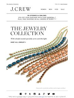 #newsletter 09.2013 J.Crew subject:  Brilliant necklaces (plus, 25% off & free shipping).