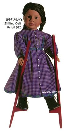 American Girl Doll Addy's Stilting Outfit