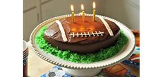 How to Make a Football Shaped Cake