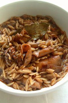 Αρωματικό Καλαμάρι με Κριθαράκι |Elena 's Cooking