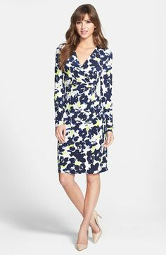 Anne Klein Floral Print Wrap Dress (Petite) available at #Nordstrom