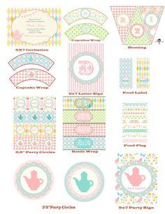 Shabby Chic Garden Tea Party Printable by StyleMeShabbyChic, $8.50